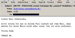 Strato Email Antwort
